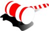 Candy Cane Gavel  Clip Art