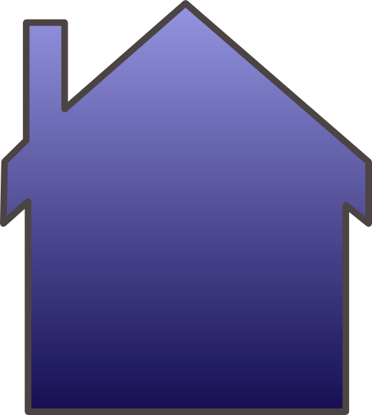 clip art blue house - photo #12