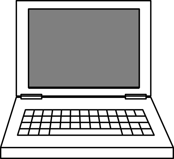 laptop clip art at clker com vector clip art online royalty free rh clker com laptop clipart transparent laptop clipart free download