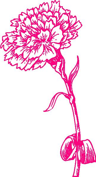 Pink Carnation Clip Art At Clker Com Vector Clip Art