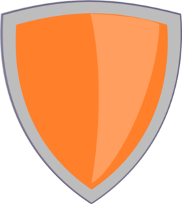 Orange Shield No Whitebackround Clip Art