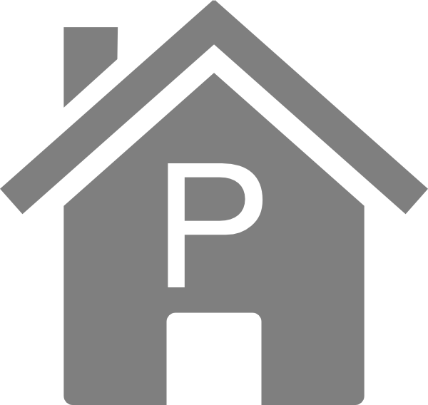 P House simple grey p house clip art at clker - vector clip art online