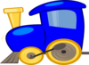 Blue Loco Train Clip Art