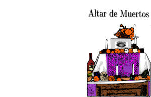 Mexican Day Of The Dead Altar Clip Art