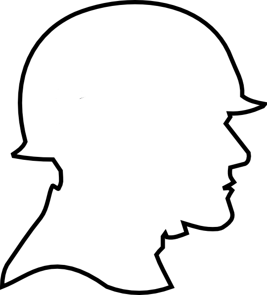 Soldier Outline Clip Art At Clker Com Vector Clip Art