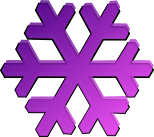 purple snowflake clip art at clker com vector clip art online rh clker com