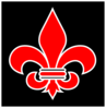 Red And White Fleur De Lis Clip Art