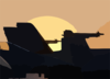 The Sun Rises Over One Of The F/a-18c Hornet Squadrons Deployed Aboard The Uss Theodore Roosevelt (cvn 71). Clip Art