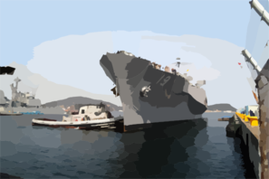 The Amphibious Command And Control Ship Uss Blue Ridge (lcc 19) Returns To Its Homeport In Yokosuka, Japan After A Scheduled Deployment In The Western Pacific Clip Art