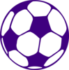 Purple Football Clip Art