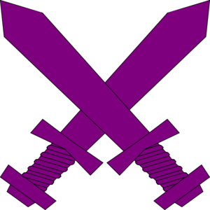 Purple Crossed Swords Clip Art