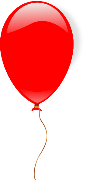 Red Ballon Clip Art at Clker.com - vector clip art online, royalty ...