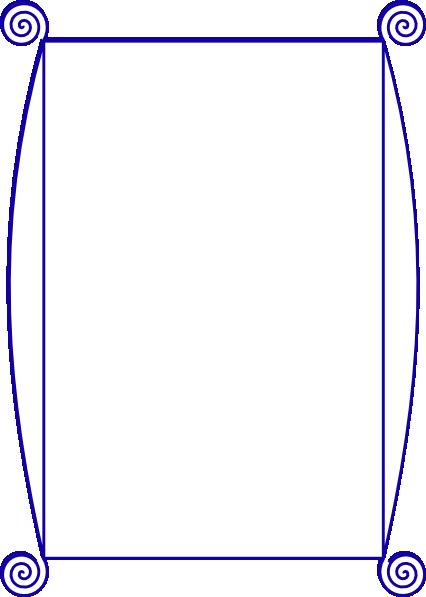 Blue Spiral Border Clip Art at Clker.com - vector clip art ...