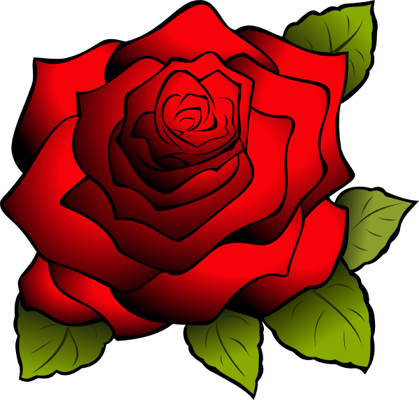 red roses clipart - photo #17