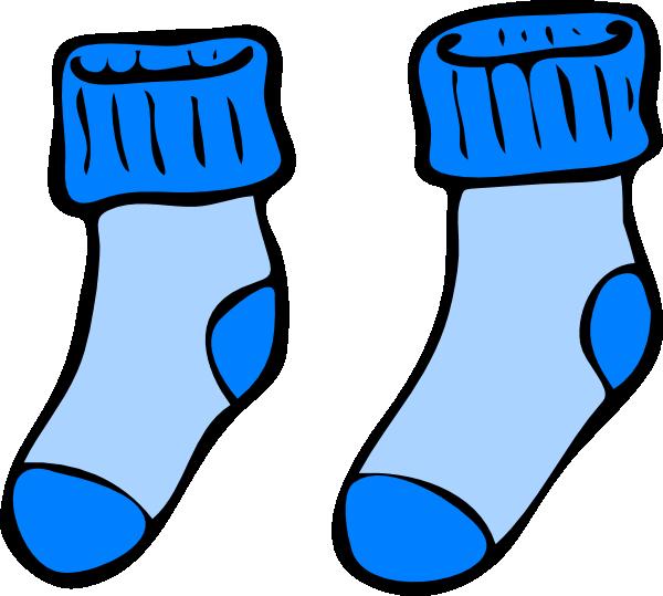 blue socks clip art at clker com vector clip art online royalty rh clker com clip art shoes and boots clip art sock monkey
