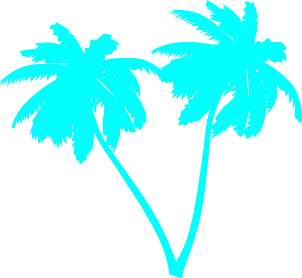Sky Blue Palms Clip Art at Clker.com - vector clip art online, royalty ...