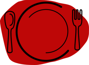 Red Plate Clip Art