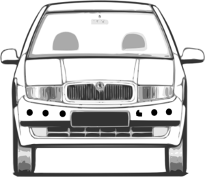 Car With Distance Sensors Clip Art