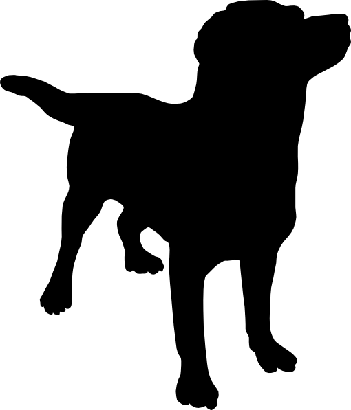 labrador black dog clip art at clker com vector clip art online rh clker com small black dog clipart black dog barking clipart