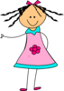 Cute Doll 2 Clip Art