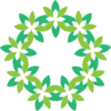 Freeform Green Wreath Clip Art