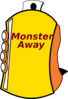 Monster Away Clip Art
