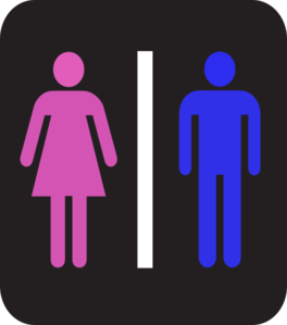 Man And Woman - Colors Clip Art