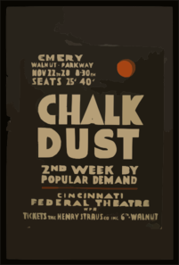 Chalk Dust  2nd Week By Popular Demand. Clip Art