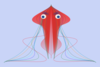 Jellyfish With Blue Eyes. Clip Art