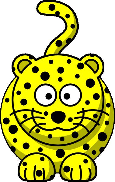 yellow leopard clip art at clker com vector clip art online rh clker com leopard print black and white clipart leopard print background clipart