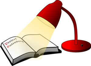 Book And Lamp Clip Art
