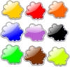 Glossy Clouds Collection Clip Art