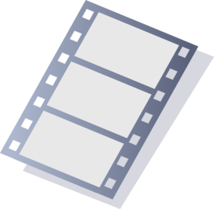 Movie Stripe Larger Format Clip Art