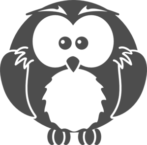 Black And White Owl Clip Art