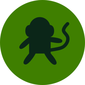 Monkey In Circle Clip Art
