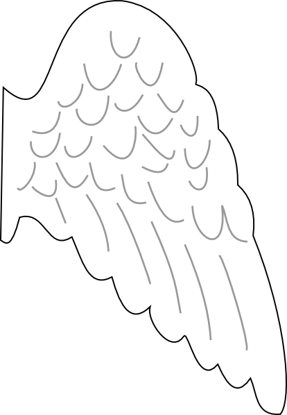 Folded angel wings coloring pages for Angel wings coloring pages