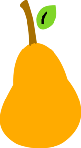 Orange Pear Clip Art