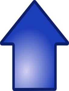 Big Blue Up Arrow Clip Art
