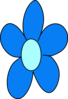 Blue Flower No Stem Clip Art