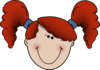 Red Head Girl Cartoon  Clip Art