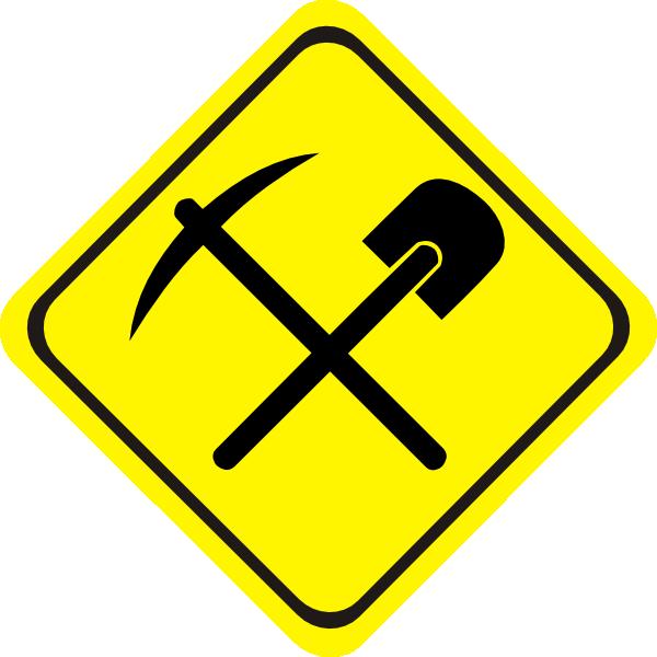 Mining Sign Clip Art at Clker.com - vector clip art online, royalty ...