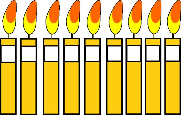 Birthday Candles Clip Art At Clker Com Vector Clip Art