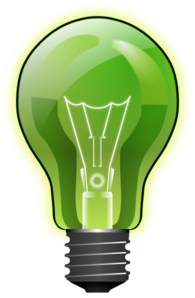 Lighbulb Green Edited Clip Art