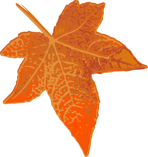 orange leaf clip art - photo #7
