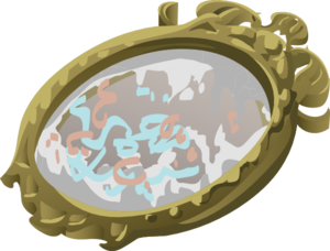 Artifact Mirror With Scribbles Clip Art