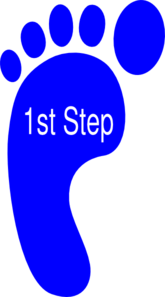 First Right Foot Clip Art