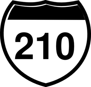 Interstate Sign I 210 Clip Art