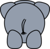 Elephant Rear Clip Clip Art