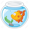 Goldfish In A Bowl Clipart Image