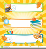 Back To School Banners Clipart Image
